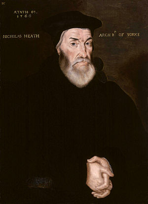 Bishop of Worcester - Image: Nicholas Heath by Hans Eworth