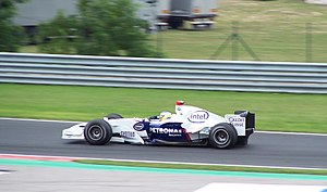 2006 Hungarian Grand Prix - Nick Heidfeld scored the BMW Sauber team's first podium finish in third position.