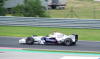 2006 Hungarian Grand Prix - Nick Heidfeld scored the BMW Sauber team's first podium finish in third position.