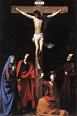 Christ on the Cross, Mary, Mary Magdelene, Saint John and Saint Francis of Paola