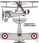 Nieuport 24 C.1 French First World War single seat fighter colourized drawing.jpg