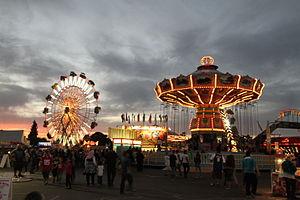 The Big Fresno Fair - The Big Fresno Fair at night