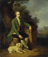Portrait of Prince Nikolai Yusupov with a Dog