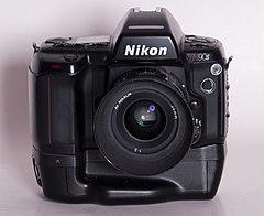 Nikon N90s w MB10 grip and AF 35mm f 2 lens (9242041085).jpg