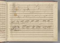 A page from Beethoven's manuscript