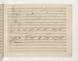 stranica iz Beethovenovog rukopisa Devete simfonije