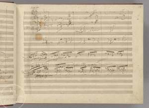 Symphony No. 9 (Beethoven) - A page (leaf 12 recto) from Beethoven's manuscript