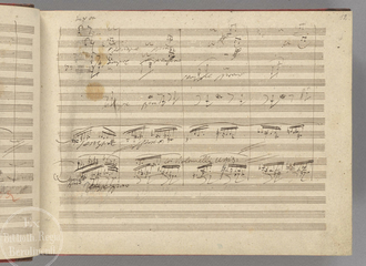 Christian music - A page (leaf 12 recto) from Beethoven's manuscript. Catholic monks developed the first forms of modern Western musical notation in order to standardize liturgy throughout the worldwide church, and an enormous body of religious music has been composed for it through the ages. This led directly to the emergence and development of European classical music, and its many derivatives. The Baroque style, which encompassed music, art, and architecture, was particularly encouraged by the post-Reformation Catholic Church as such forms offered a means of religious expression that was stirring and emotional, intended to stimulate religious fervor.