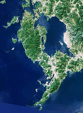 Nishisonogi and Nagasaki Peninsula Japan SRTM.jpg