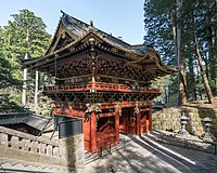 Nitemmon, Taiyū-in, Nikko, West view 20190423 1.jpg