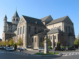 Nivelles Abbey - View of the Collegiate Church