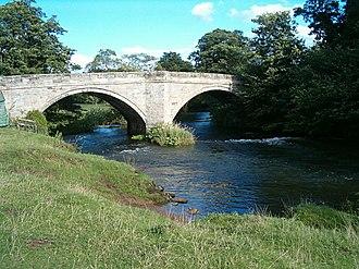 Ellastone - The nearby bridge over the River Dove to Norbury in Derbyshire.