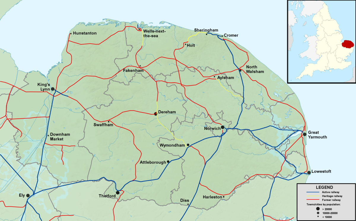 Railways in Norfolk Wikipedia