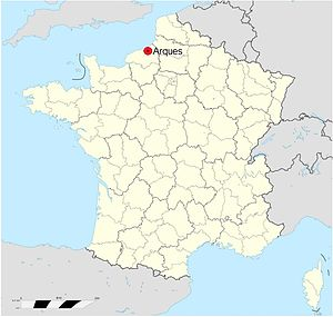 William of Talou - Image: Normandy map Arques