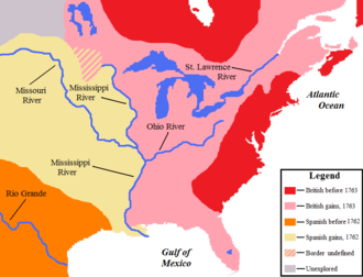 Map Of North America 1763.French And Indian War Wikipedia