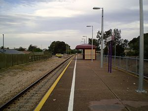 Outer Harbor railway line - Image: North Haven Railway Station Adelaide