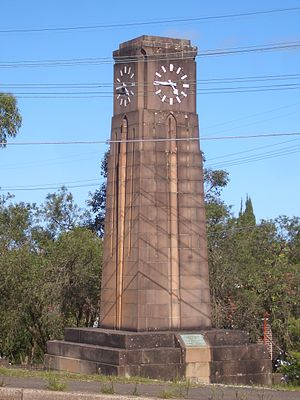 Northbridge, New South Wales - War Memorial Clock.