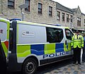Northern Constabulary - Inverness City Centre Scotland - Vauxhall Vivaro van and Traffic Warden at Eastgate (1).jpg