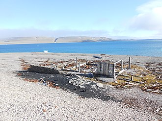 Beechey Island - Remains of Northumberland House on the shore of Beechey Island Nunavut Canada
