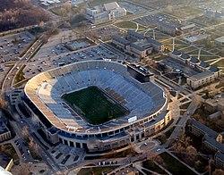 Notre Dame Stadium on the university campus