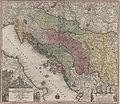 Nova et accurata tabula regnorum et provinciarum Dalmatia, Croatia, Sclavonia, Bosnia, Servia, Istria, et Reip. Ragusana 1728.jpg