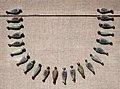 Nuovo regno, xviii dinastia, regno di amenhotep III o akhenaton, vaghi di collana a forma di boccioli di loto, 1391-1337 ac ca.jpg