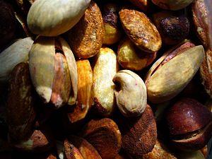Photo of nuts(pistachio,hazelnut,almond,...),t...