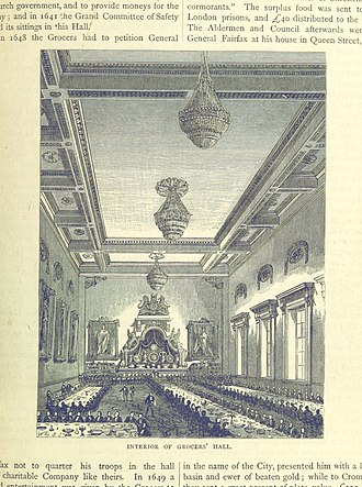Worshipful Company of Grocers - The interior of Grocers' Hall, 1887