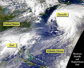 Hurricane Earl (1998) - Hurricanes Danielle and Earl on September 3