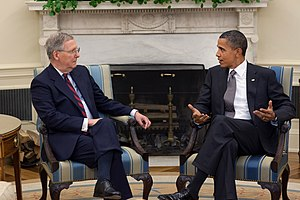 Mitch McConnell - McConnell with President Barack Obama, August 2010