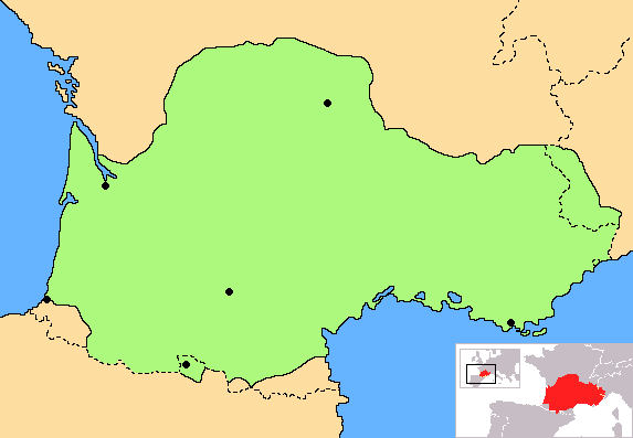 Occitania blanck map