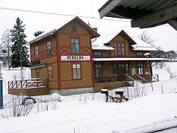 Ockelbo Train Station in February 2006