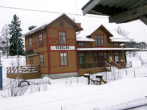 Ockelbo - Ockelbo Train Station in February 2006