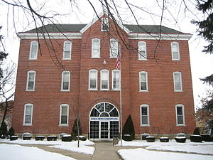 Mount Morris, Illinois - Mount Morris has long been known as a publishing center, this image is of the Kable News Company building.