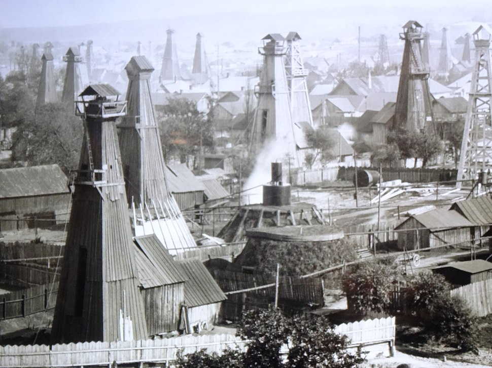 Oil wells in Boryslav