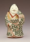 Banko ware Okame female figurine, Edo period, 19th century