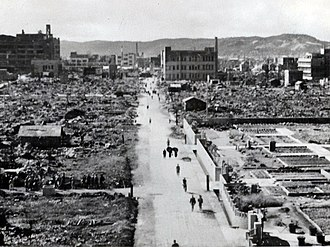 Okayama - Okayama after the 1945 air raid