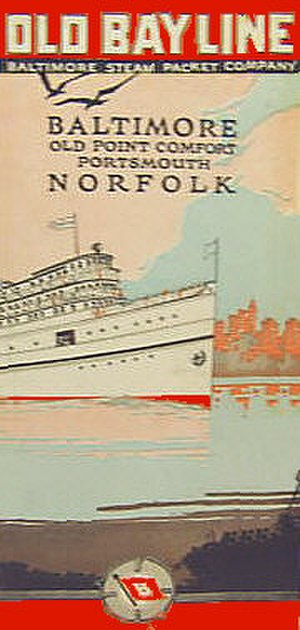 Baltimore Steam Packet Company - Old Bay Line 1950s timetable