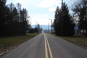 Old Tioga Turnpike in New Columbus, Pennsylvania.JPG