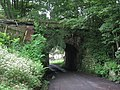 Old railway bridge over the approach road to Langley Garden Station - geograph.org.uk - 494588.jpg