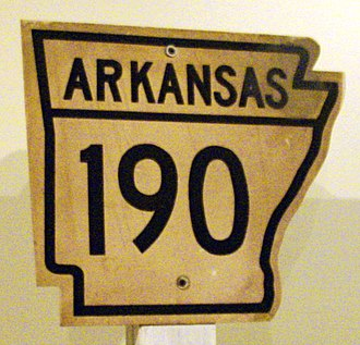 Arkansas Highway System - Image: Old shield for Arkansas 190