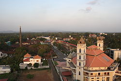 Ollur town seen from a residential building