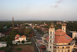 Ollur Town in Kerala, India