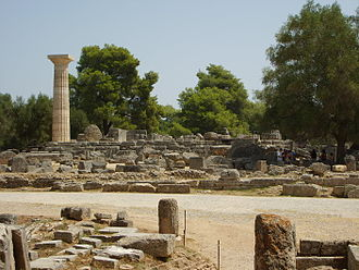 Elis - Ruins of the Temple of Zeus, Olympia