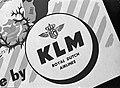 Omslag van het vliegticket met KLM logo, Bestanddeelnr 255-8947.jpg