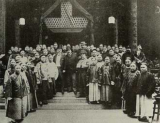 Po Leung Kuk - Dr. Kai Ho and colonial secretary James Stewart Lockhart at the opening of the Po Leung Kuk in 1896