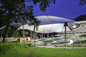 Thin-shell structure - The Forest Opera, an open-air amphitheatre in Sopot, Poland, with a membrane roof.