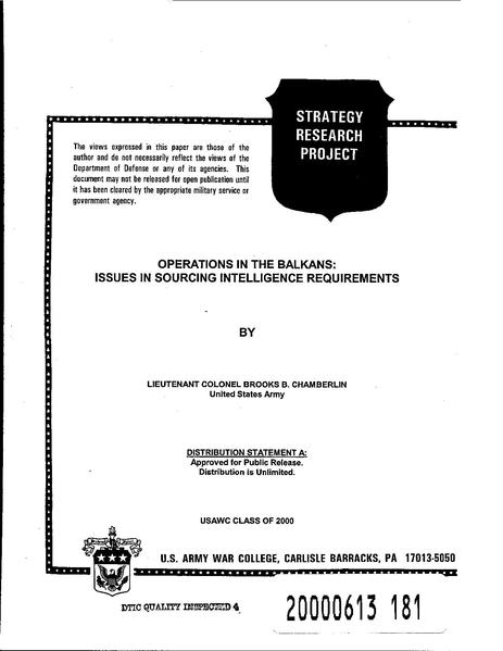 File:Operations in the Balkans - Issues in sourcing intelligence requerments.pdf