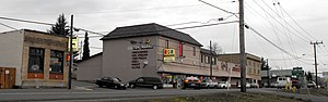 Gaston, Oregon - Business district of Gaston on Route 47, looking northwest