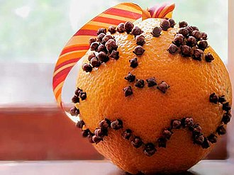 Pomander - An orange studded with cloves.